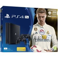 Sony Playstation 4 PRO 1Tb + FIFA 18 (русская версия) + DualShock 4 (Version 2) (black)