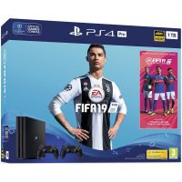 Sony Playstation 4 PRO 1Tb + FIFA 19 (русская версия) + DualShock 4 (Version 2) (black)