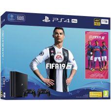 Sony Playstation 4 PRO 1Tb + FIFA 19 (русская версия) + DualShock 4 (Version 2) (black)