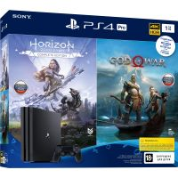 Sony Playstation 4 PRO 1Tb + God of War IV + Horizon Zero Dawn. Complete Edition (русские версии)