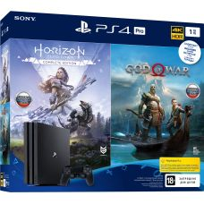 Sony Playstation 4 PRO 1Tb + God of War IV + Horizon Zero Dawn. Complete Edition (русские версии)