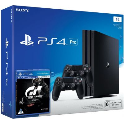 Sony Playstation 4 PRO 1Tb + Gran Turismo Sport. Day One Edition (русская версия) + DualShock 4 (Version 2) (black)