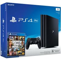 Sony Playstation 4 PRO 1Tb + GTA V (русская версия)