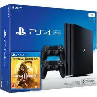 Sony Playstation 4 PRO 1Tb + Mortal Kombat 11 (русская версия) + DualShock 4 (Version 2) (black)