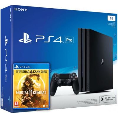 Sony Playstation 4 PRO 1Tb + Mortal Kombat 11 (русская версия)