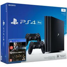 Sony Playstation 4 PRO 1Tb + Mortal Kombat XL (русская версия) + DualShock 4 (Version 2) (black)