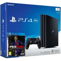 Sony Playstation 4 PRO 1Tb + Pro Evolution Soccer 2019 (русская версия)