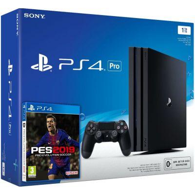 Sony Playstation 4 PRO 1Tb + Pro Evolution Soccer 2019 (русская версия)