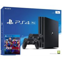 Sony Playstation 4 PRO 1Tb + PES 2018 (русская версия) + DualShock 4 (Version 2) (black)