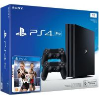 Sony Playstation 4 PRO 1Tb + UFC 2 + DualShock 4 (Version 2) (black)