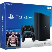 Sony Playstation 4 PRO 1Tb + UFC 3 (русская версия) + DualShock 4 (Version 2) (black)