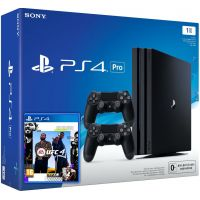 Sony Playstation 4 PRO 1Tb + UFC 4 (русская версия) + DualShock 4 (Version 2) (black)