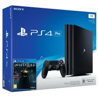 Sony Playstation 4 PRO 1Tb + Injustice 2 (русская версия)