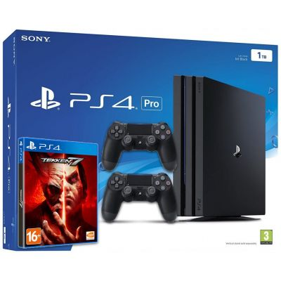 Sony Playstation 4 PRO 1Tb + Tekken 7 (русская версия) + DualShock 4 (Version 2) (black)