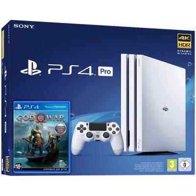Sony Playstation 4 PRO 1Tb White  + God of War 4 (русская версия)