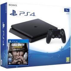 Sony Playstation 4 Slim 1Tb + Call of Duty: WWII (русская версия)