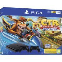 Sony Playstation 4 Slim 1Tb + Crash Team Racing Nitro-Fueled + DualShock 4 (Version 2) (black)