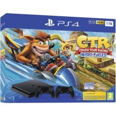 Sony Playstation 4 Slim 1Tb + Crash Team Racing Nitro-Fueled + DualShock 4 (Version 2) (black)