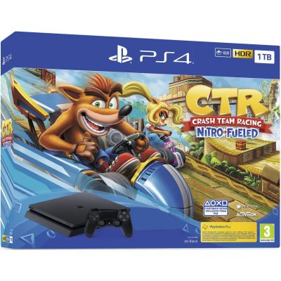 Sony Playstation 4 Slim 1Tb + Crash Team Racing Nitro-Fueled