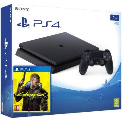 Sony Playstation 4 Slim 1Tb + Cyberpunk 2077 (русская версия)