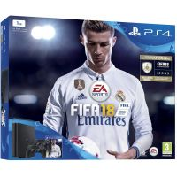 Sony Playstation 4 Slim 1Tb + FIFA 18 (русская версия) + DualShock 4 (Version 2) (black)