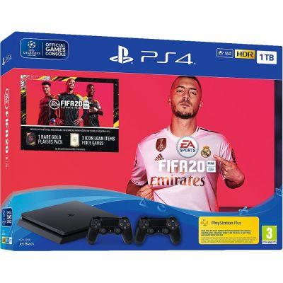 Sony Playstation 4 Slim 1Tb + FIFA 20 (русская версия) + DualShock 4 (Version 2) (black)