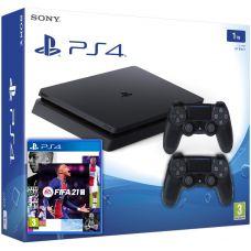 Sony Playstation 4 Slim 1Tb + FIFA 21 (русская версия) + DualShock 4 (Version 2) (black)