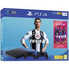 Sony Playstation 4 Slim 1Tb + FIFA 19 (русская версия) + DualShock 4 (Version 2) (black)