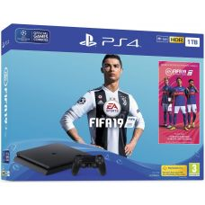 Sony Playstation 4 Slim 1Tb + FIFA 19 (русская версия)
