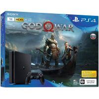 Sony Playstation 4 Slim 1Tb + God of War 4 (русская версия)
