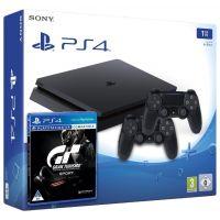 Sony Playstation 4 Slim 1Tb + Gran Turismo Sport. Day One Edition (русская версия) + DualShock 4 (Version 2) (black)