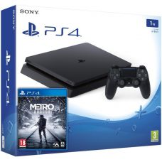 Sony Playstation 4 Slim 1Tb + Metro Exodus / Исход (русская версия)