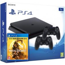 Sony Playstation 4 Slim 1Tb + Mortal Kombat 11 (русская версия) + DualShock 4 (Version 2) (black)