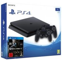 Sony Playstation 4 Slim 1Tb + Mortal Kombat XL (русская версия) + DualShock 4 (Version 2) (black)
