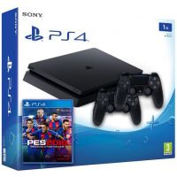 Sony Playstation 4 Slim 1Tb + PES 2018 (русская версия) + DualShock 4 (Version 2) (black)