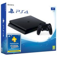 Sony Playstation 4 Slim 1Tb + Подписка PlayStation Plus (3 месяца)