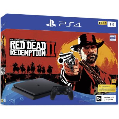 Sony Playstation 4 Slim 1Tb + Red Dead Redemption 2 (русская версия)