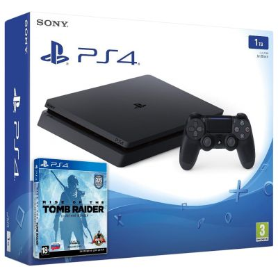Sony Playstation 4 Slim 1Tb + Rise of The Tomb Rider (русская версия)