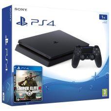 Sony Playstation 4 Slim 1Tb +  Sniper Elite 4 (русская версия)