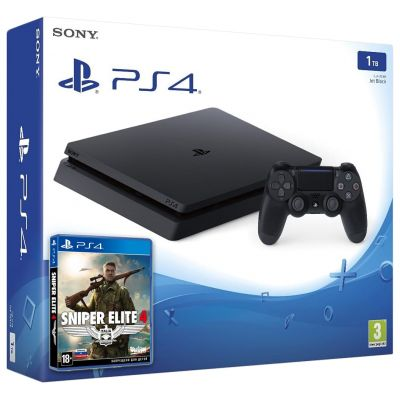 Sony Playstation 4 Slim 1Tb +  Sniper Elite 4 (русская версия)