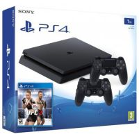 Sony Playstation 4 Slim 1Tb + UFC 2 + DualShock 4 (Version 2) (black)