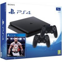Sony Playstation 4 Slim 1Tb + UFC 3 (русская версия) + DualShock 4 (Version 2) (black)