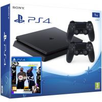 Sony Playstation 4 Slim 1Tb + UFC 4 (русская версия) + DualShock 4 (Version 2) (black)
