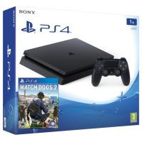 Sony Playstation 4 Slim 1Tb + Watch Dogs 2 (русская версия)