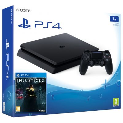 Sony Playstation 4 Slim 1Tb + Injustice 2 (русская версия)