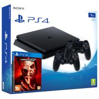 Sony Playstation 4 Slim 1Tb + Tekken 7 (русская версия) + DualShock 4 (Version 2) (black)