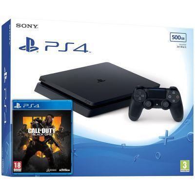 Sony Playstation 4 Slim 500Gb + Call of Duty: Black Ops 4 (русская версия)