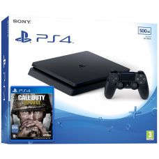 Sony Playstation 4 Slim 500Gb + Call of Duty: WWII (русская версия)