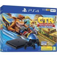Sony Playstation 4 Slim 500Gb + Crash Team Racing Nitro-Fueled + DualShock 4 (Version 2) (black)