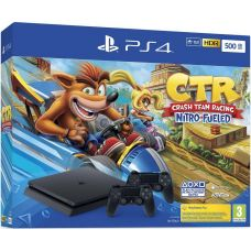 Sony Playstation 4 Slim 500Gb + Crash Team Racing Nitro-Fueled + DualShock 4 (Version 2) (black)